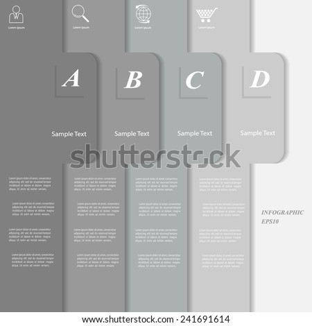 Clean Template. Can be used for workflow layout, banner, diagram, web design, infographic Vector Eps10 - stock vector