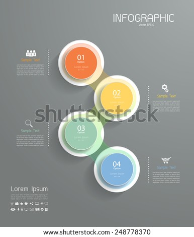 Clean template layout 4 steps. Vector eps 10 - stock vector