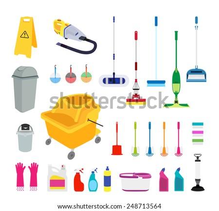 Clean tools - stock vector