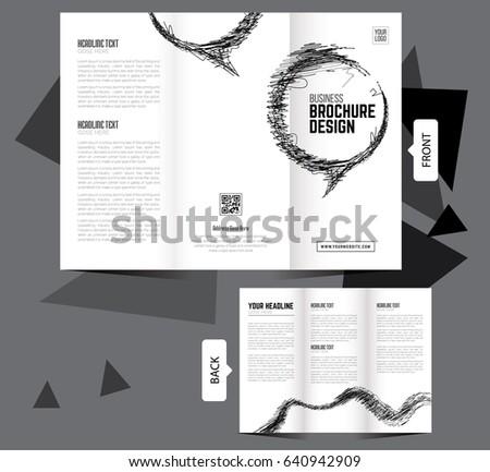 Clean Tri Fold Brochure Template   Tri Fold Business Brochure Template,  Clean Design