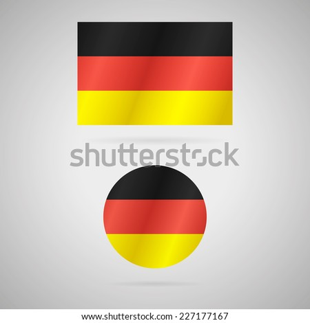Clean vector modern rectangle and circle flag of Germany