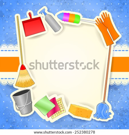 Cleaning, background with copy space. Vector eps10 - stock vector