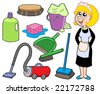Cleaning collection 1 - vector illustration. - stock vector
