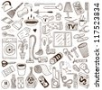 cleaning house - doodles collection - stock vector