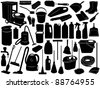 Cleaning objects isolated on white - stock vector