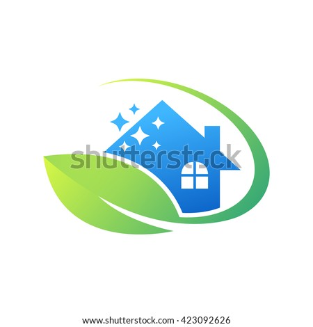 Cleaning Service Business Logo Design Eco Stock Vector HD (Royalty ...