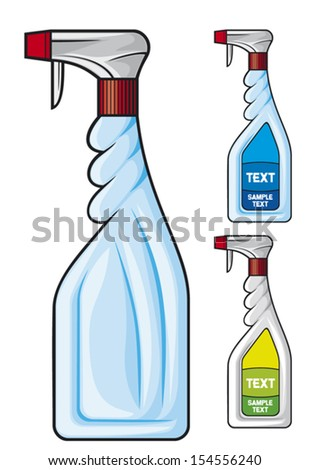 cleaning spray bottle  - stock vector