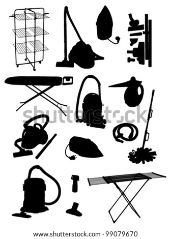 cleaning stuff - stock vector