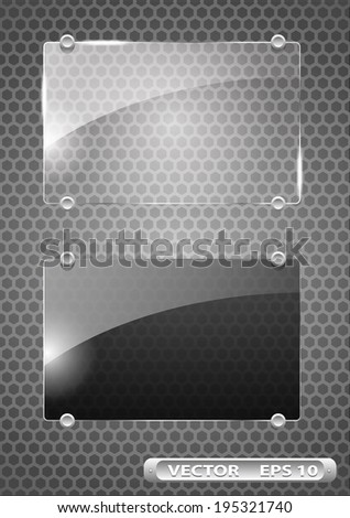 clear and tinted glass frames - stock vector