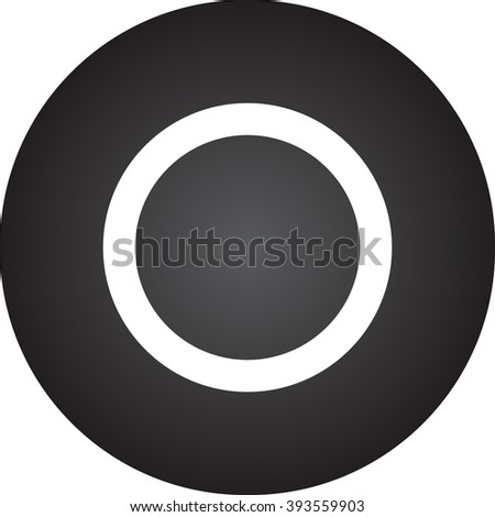 Clear Bass Drum Head simple icon on round background