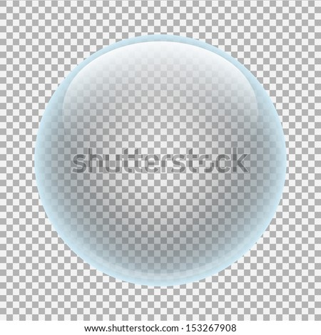 Clear glass ball - stock vector