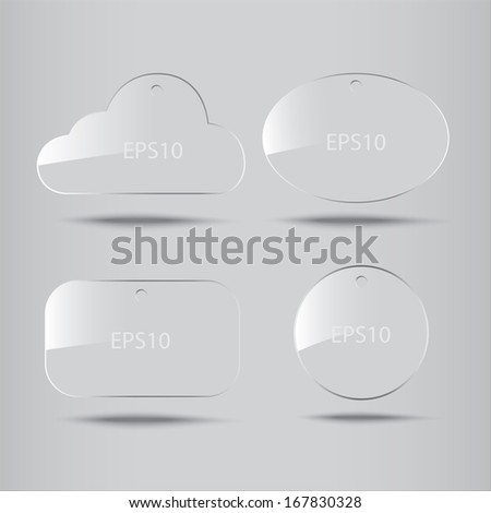 Clear glass icon : Illustration EPS10 - stock vector