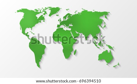 Clear green world map silhouette eps 10 stock vector hd royalty clear green world map silhouette eps10 vector gumiabroncs