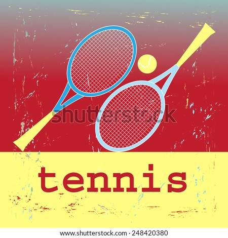 clear illustration of the sport of tennis  - stock vector