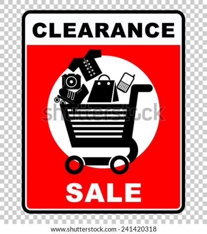 Clearance Sale - stock vector