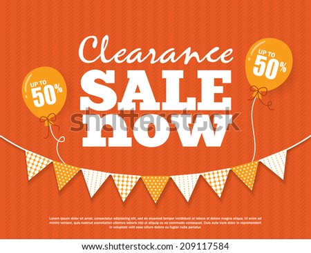 Clearance Sale Poster - stock vector