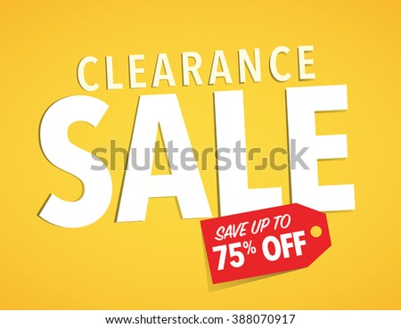 Clearance sale up to 75% off poster