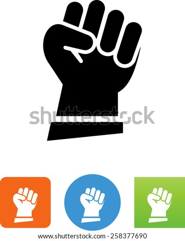 Clenched fist symbol. Editable vector icons for video, mobile apps, Web sites and print projects.  - stock vector