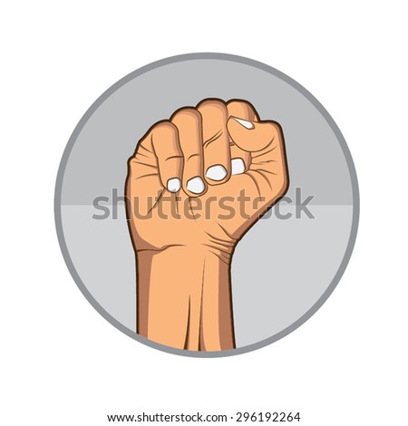 Clenched fisthand retro  - stock vector