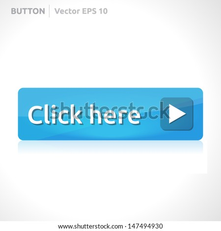 Click here button template | vector design eps | business banner with symbol icon | website element | web blue - stock vector