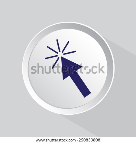 click here icon - stock vector