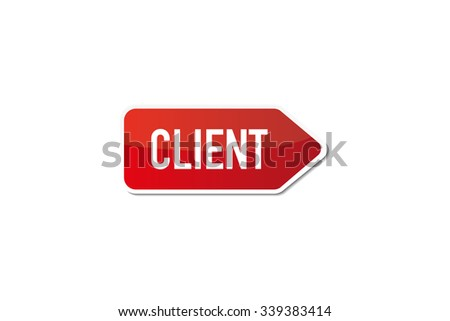 Client - stock vector