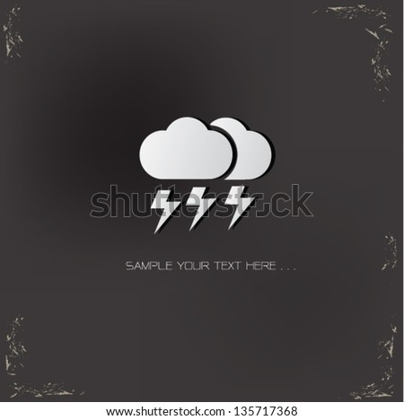 Climate sign,vector - stock vector