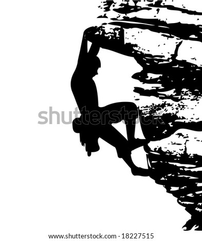 Climber - stock vector