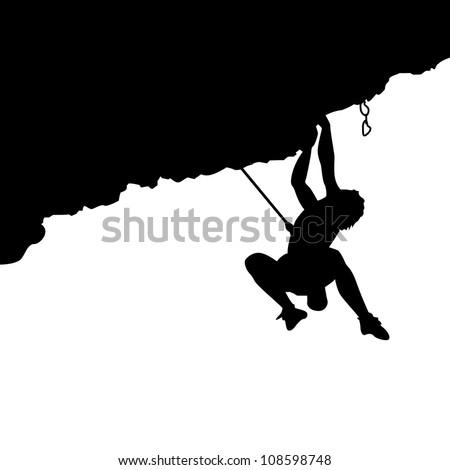Climber silhouette - stock vector