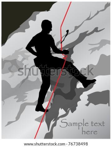 climbing sport vector - stock vector