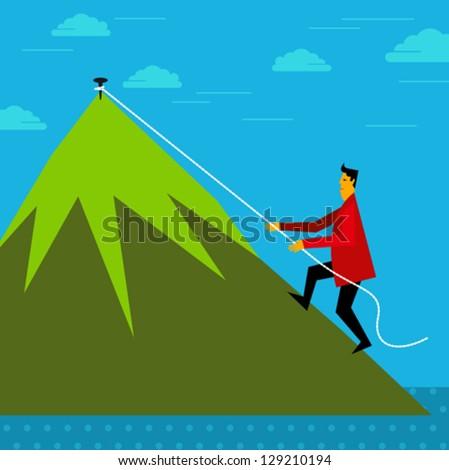 Climbing up - business concept - stock vector
