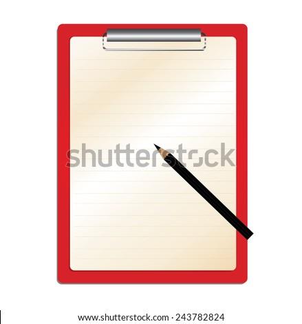 Clipboard  - stock vector