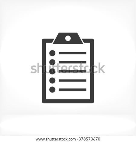 Clipboard Icon, clipboard icon flat, clipboard icon picture, clipboard icon vector, clipboard icon EPS10, clipboard icon graphic, clipboard icon object, clipboard icon JPEG, clipboard icon picture - stock vector