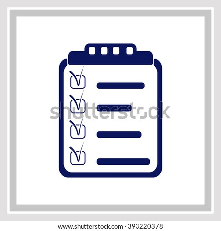 Clipboard, List icon. Simple black vector symbol. Logo for web. Image for business. - stock vector