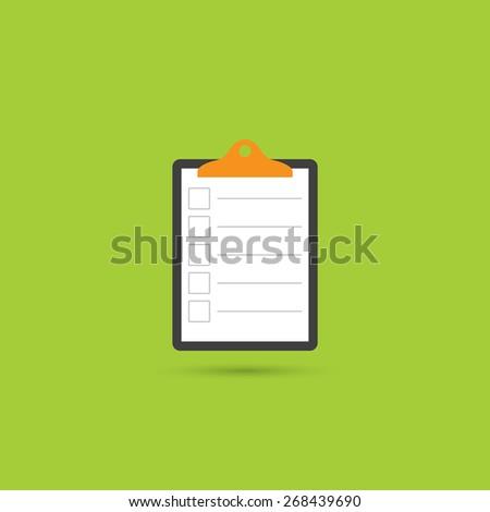 Clipboard, list icon - Vector - stock vector
