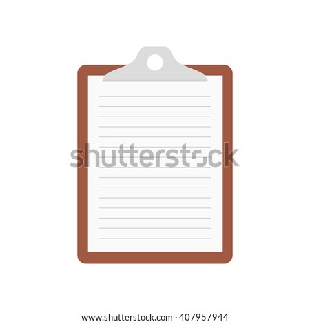 Clipboard, list icon - Vector