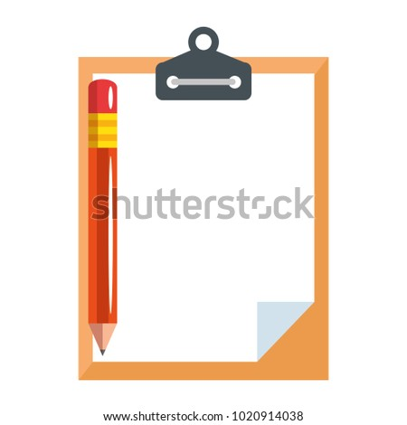 clipboard paper with pencil