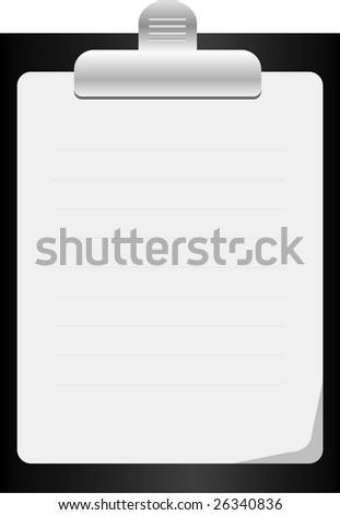 clipboard. Vector illustration - stock vector