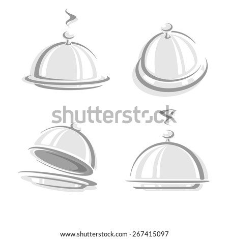 Cloche restaurant. Vector
