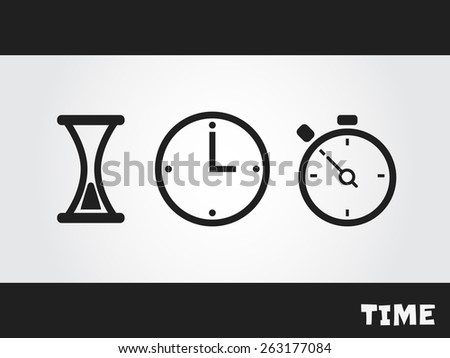 clock and time - stock vector