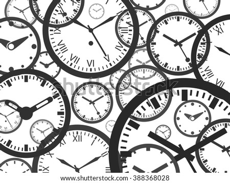 Clock Background - stock vector