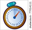 Clock cartoon vector illustration - stock vector