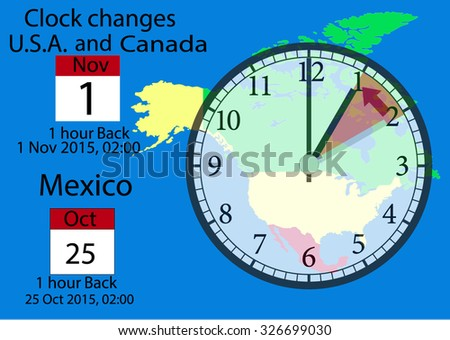 Clock changes in the USA  Canada and Mexico