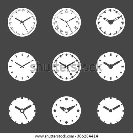 Clock; Clock Set; Clock Icon; Clock Icons; Clock Icons Vector; Clock Icon Set; Clock Vector; Clock Icon EPS; Clock Icon JPG; Clock Icon Set Vector - Isolated Vector Illustration. - stock vector
