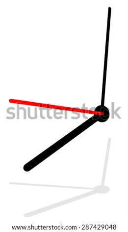 Clock, clock vector isolated on white. eps 10. - stock vector