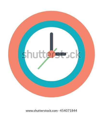 Clock Colored Vector Icon