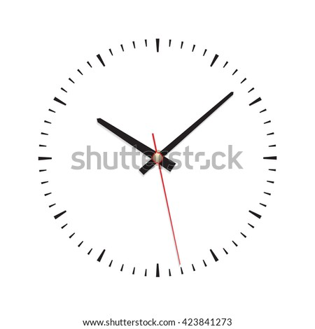 Clock dial classic no number isolated vector illustration.