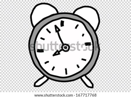 clock doodle  - stock vector