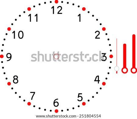 clock face blank - stock vector