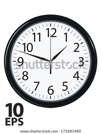 Clock face isolated. Vector illustration